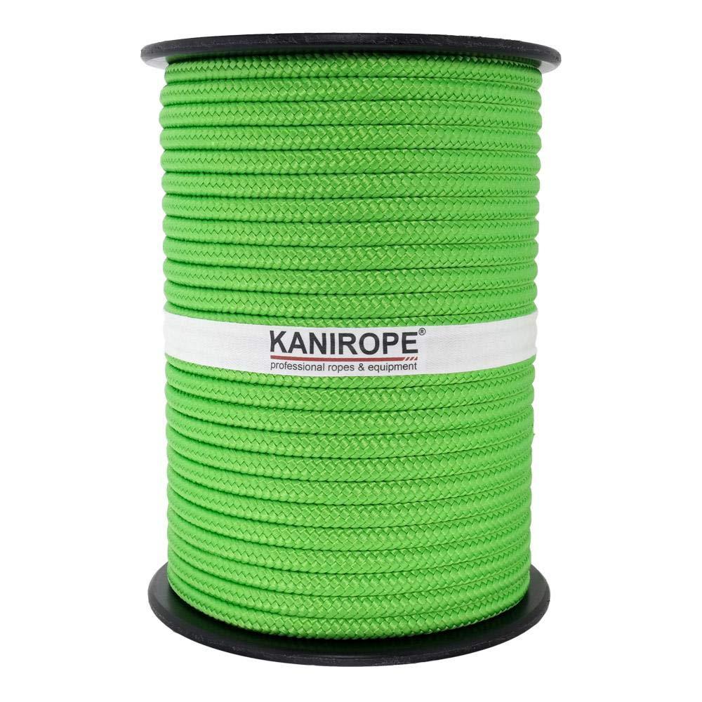 Kanirope/® PP Seil Polypropylenseil MULTIBRAID 6mm 100m geflochten Farbe Fluorgr/ün 2000
