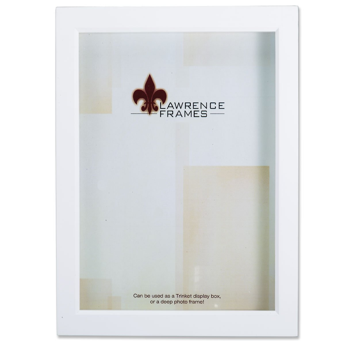 Lawrence Frames 795246 White Wood Treasure Box Shadow Box Picture Frame, 4 by 6-Inch