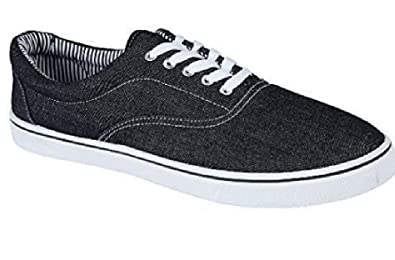 UNISEX LACE UP MENS WOMENS PLIMSOLES PLIMSOLLS PUMPS TRAINERS ESPADRILLES  DECK SKATE SHOES CANVAS BOYS GIRLS ADULT SIZES 712 Amazoncouk Shoes   Bags