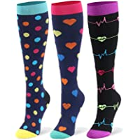 Compression Socks for Men & Women - 20-30mmHg 2 to 6 pairs Compression Stockings for Runners, Edema