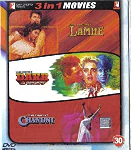 Lamhe / Chandni / Darr(3 in 1 - 100% Orginal DVD Without Subtittle)