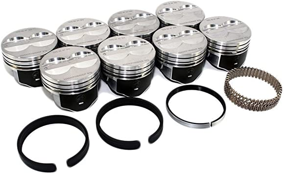 Your Choice of Sizes. STD 4.00 Bore Mercruiser Chevy Marine 5.7L 350ci Flat Top Pistons MOLY Rings std Hypereutectic