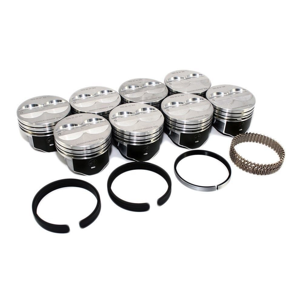 Mercruiser Chevy Marine 5.7L 350ci Flat Top Pistons MOLY Rings std Hypereutectic. Your Choice of Sizes. (STD 4.00' Bore) Sealed Power/Perfect Circle