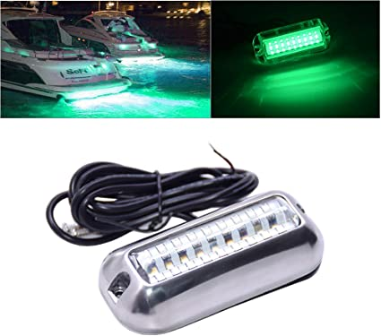 Waterproof 27 LED Green Light Underwater Pontoon Marine Boat Transom Lights
