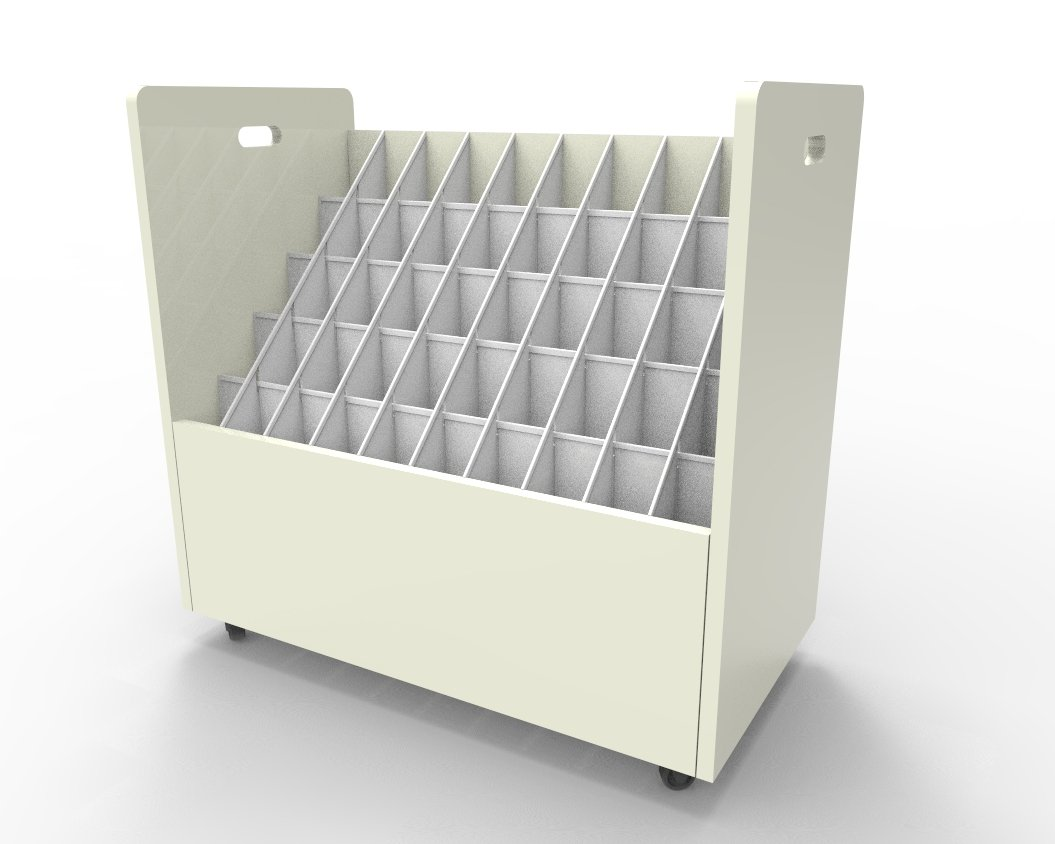 Fixture Displays 50 compartments file organizer 15127!