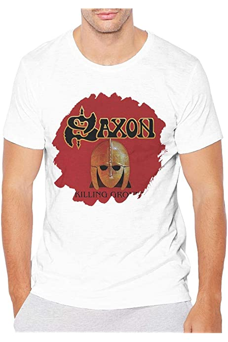 saxon Killing Ground MEN BLACK t-shirt BAND MUSIC SAXON clothing unisex SHIRT