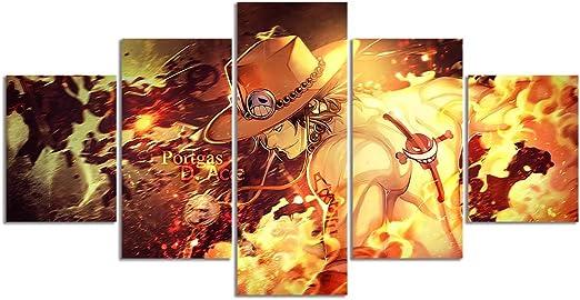 60x90CM pôster de rolagem De Parede Pintura Tecido Para Anime One Piece Portgas Ace adtn