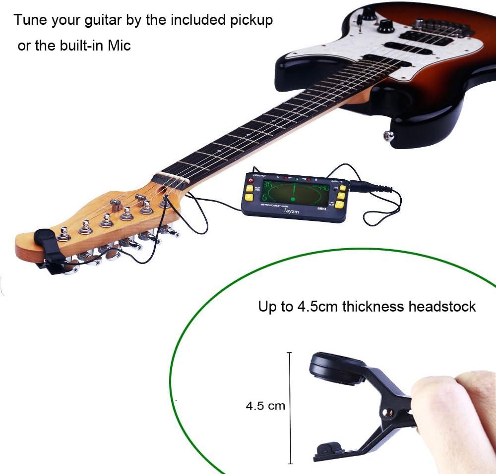 Rayzm Afinador Metrónomo (Metrónomo-sintonizador) para Guitarra ...