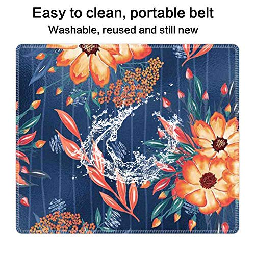 Mouse Pad Rectangle Mouse Pad Painted Flowers Wallpaper Lightweight 300mm250mm3mm -