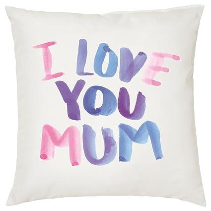 I Love You Mum funda de cojín, día de la madre regalo ...