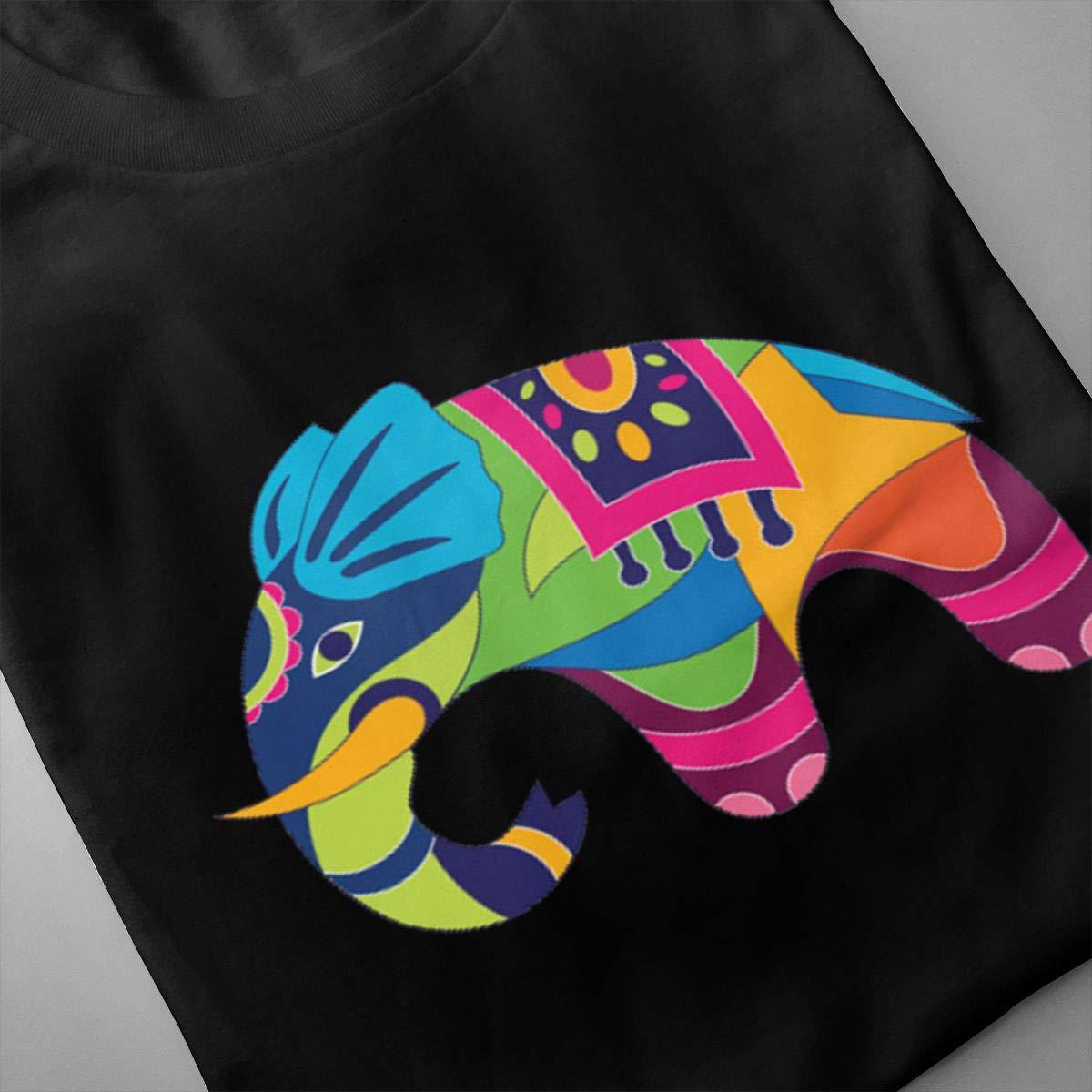 Marsherun Mens Funny Elephant Logo Sport Short Sleeve Shirts