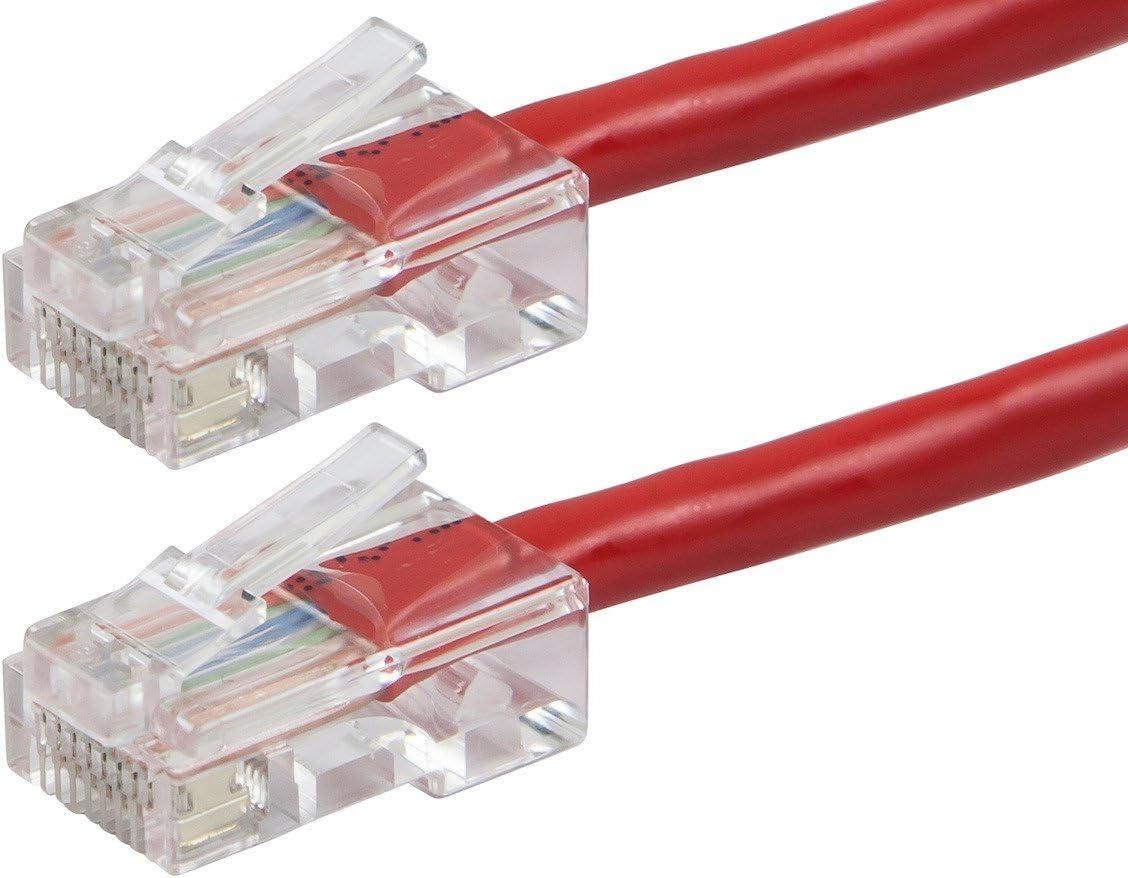 CLASSYTEK ZEROboot Series Cat5e 24AWG UTP Ethernet Network Patch Cable 2ft Red