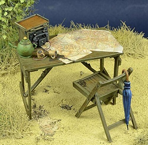 D-day Miniature 1:35 WWII BEF HQ Resin Diorama Accessory