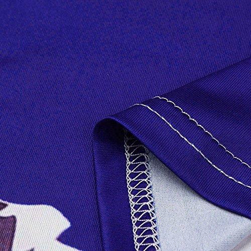 Maglietta Donna Cinghietti Hemveste Camiciola Top Maniche Viola Crop Canotta Irregolare Elegante Damark tm Sexy Senza Estivo Floreale Zp5AF5wx