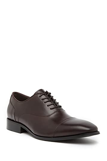 53b91a36ef23 Kenneth Cole Reaction Men's Design 20601 Borwn Leather Lace up Dress Shoe  Oxford Brown