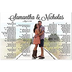 Personalized Wedding Seating Chart Sign Table Seats