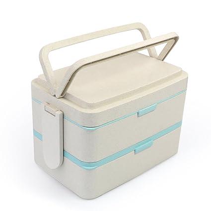 Amazon.com: Caja de almuerzo grande Bento a prueba de fugas ...