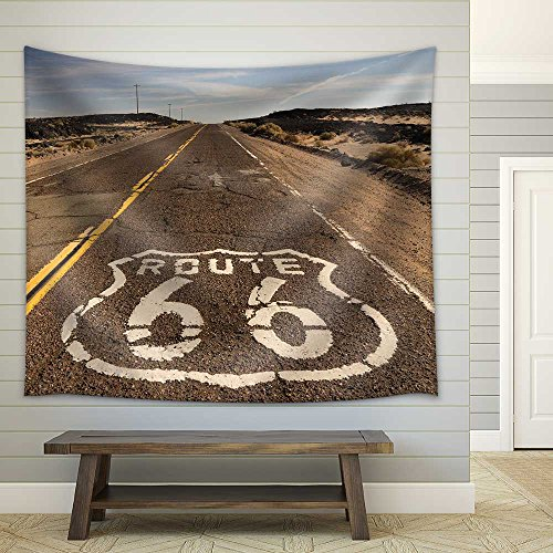 wall26 - The historic route 66 road still survives in the southwest - Fabric Wall Tapestry Home Decor - 68x80 inches (Route Tapestry 66)