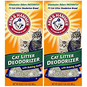 ARM & HAMMER Cat Litter Deodorizer With Activated Baking Soda 20 oz (Pack of 2) 33
