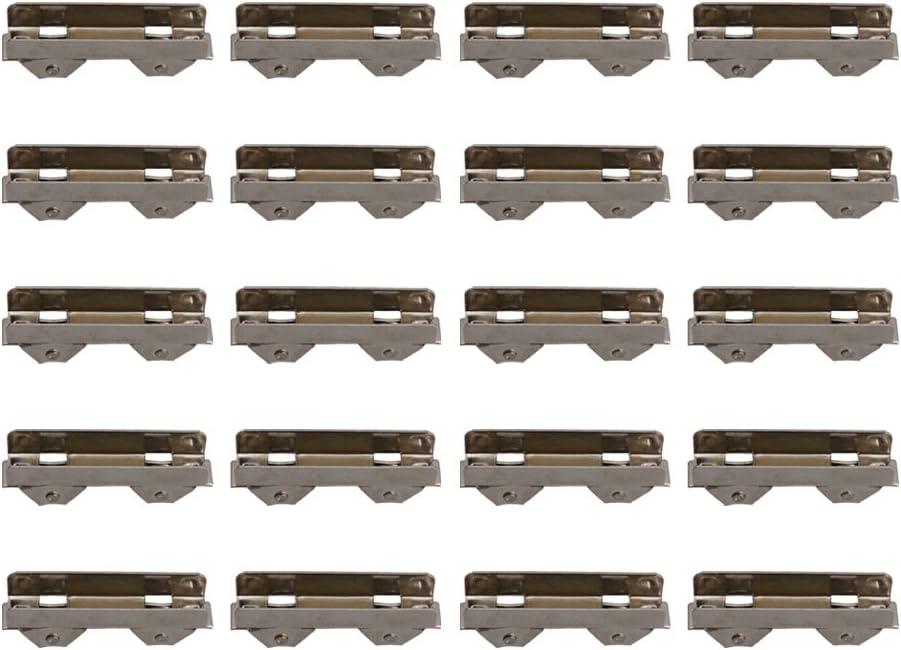 BQLZR Polea de rodamiento de bolas correderas de 10 mm para puertas de cristal de 8 mm de grosor, paquete de 20