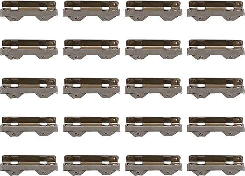 BQLZR Polea de rodamiento de bolas correderas de 10 mm para puertas de cristal de 8 mm de grosor, paquete de 20: Amazon.es: Bricolaje y herramientas