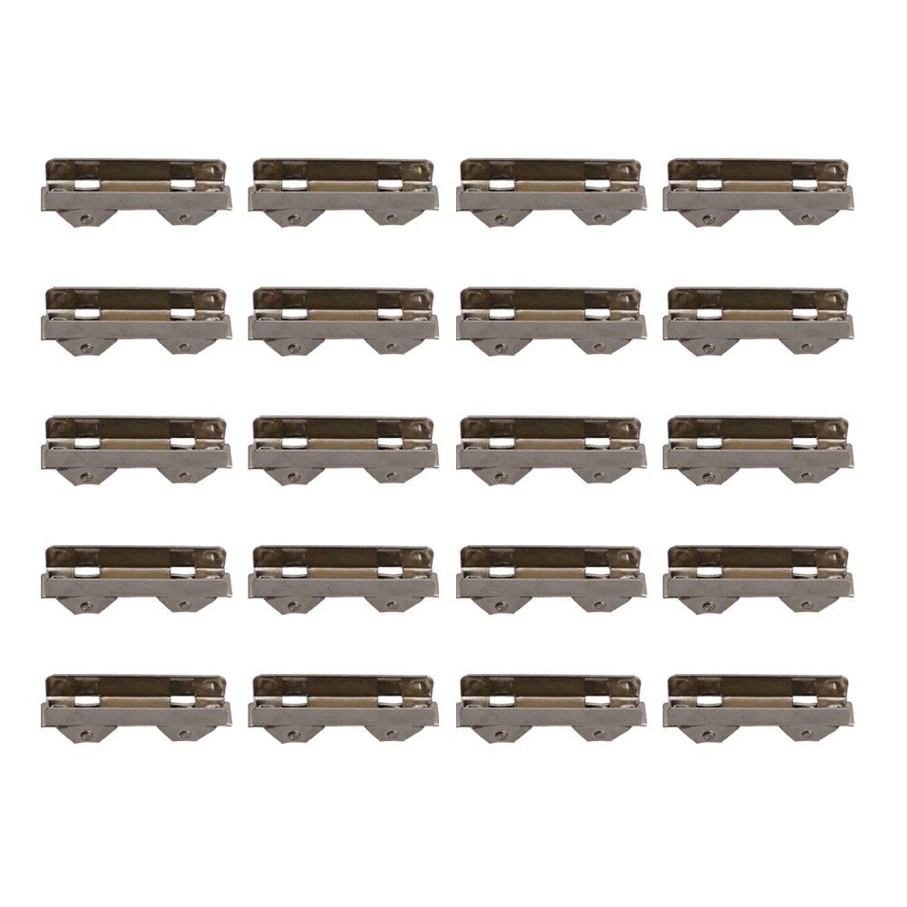 BQLZR scorrevole cuscinetto doppio rullo puleggia ruota 10 mm per sportelli in vetro, spessore 8 mm, confezione da 20 M4180402068