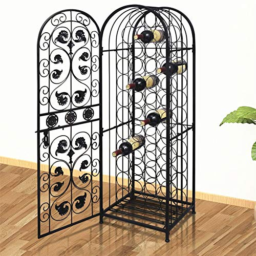 (BLUECC Wine Stand Rack Bordeaux Chateau Style Wine Cabinet Furniture (45 Bottles))