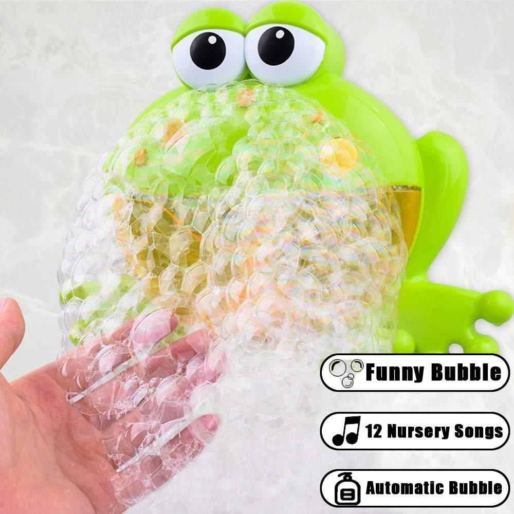 ALIKEEY Bubble Machine Grandes Ranas Autom/ático Bubble Maker Soplador De M/úsica De Ba/ño De Juguete para El Beb/é Menos Price Tren Juguete Electrico Bebe Navide/ñO