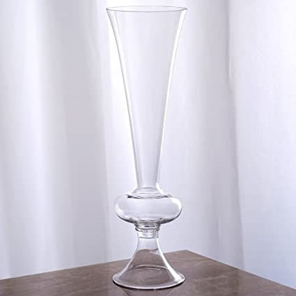 Amazon Balsacircle 4 Pcs 15 Tall Clear Glass Trumpet Vases For