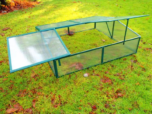 [Cold Frame Greenhouse Seed Starter - 4x4 ft] (Polycarbonate Cold Frame)