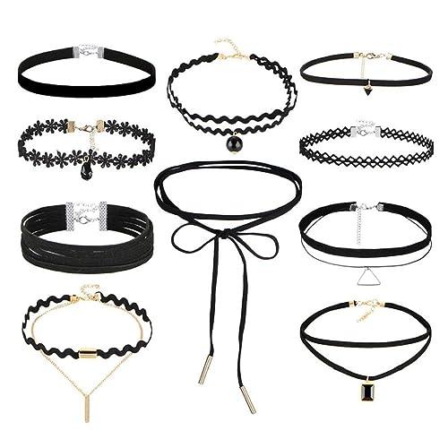 Retro Frauen Schmuck Gothic Samt Choker Halskette Lange Kette Blatt Anhänger ^