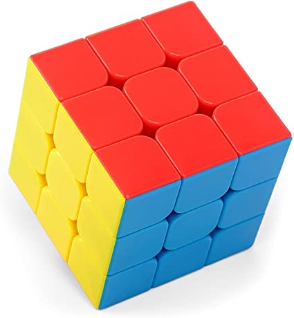 AdiChai Stickerless Multi Coloured 3 by 3 Magic Speed Cube - HMC 3 by 3 , 3X3 , 3 X 3 Magic Cube