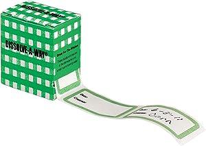 Dissolve-A-Way Food Labels, WHITE
