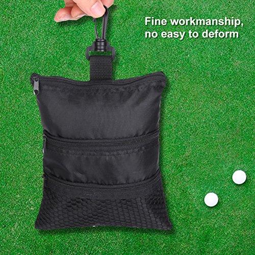 GOTOTOP Multi-Pocket Golf Bag Golf Ball Black Zipper Handbag Bag Useful Golf Ball Handbag Golf Accessories Bag(19 15.5cm / 7.5 6.1inch) by GOTOTOP (Image #5)