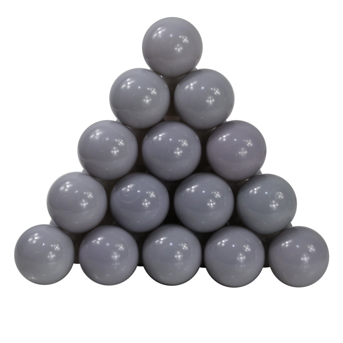 Langxun Pack of 200 Silver ( Gray ) Ball Pit Balls - Phthalate Free BPA Free Crush Proof Plastic Ball | Ideal Gifts for Kids & Photo Booth Props for Baby and Kids by Langxun (Image #3)