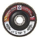 Mercer Industries 349080 Type 29, 4-1/2''x 7/8'' Grit 80 Ceramic Flap Disc (10 Pack)