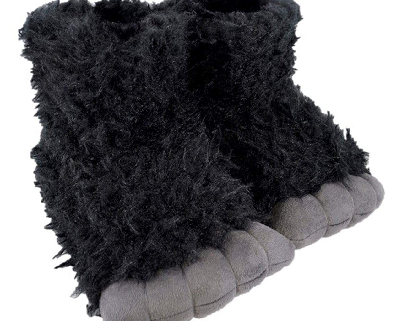 Boys Gorilla Slippers Plush 3D Novelty Footwear