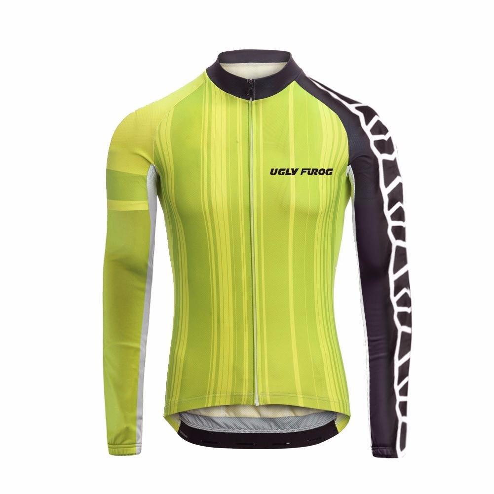 Uglyfrog 2018 M50 Winter with Fleece Männer Radfahren Langarm Radfahren Menge Jersey eine Menge Radfahren Farben Antislip Ärmel Road Bike MTB Top Riding Shirt 59a796