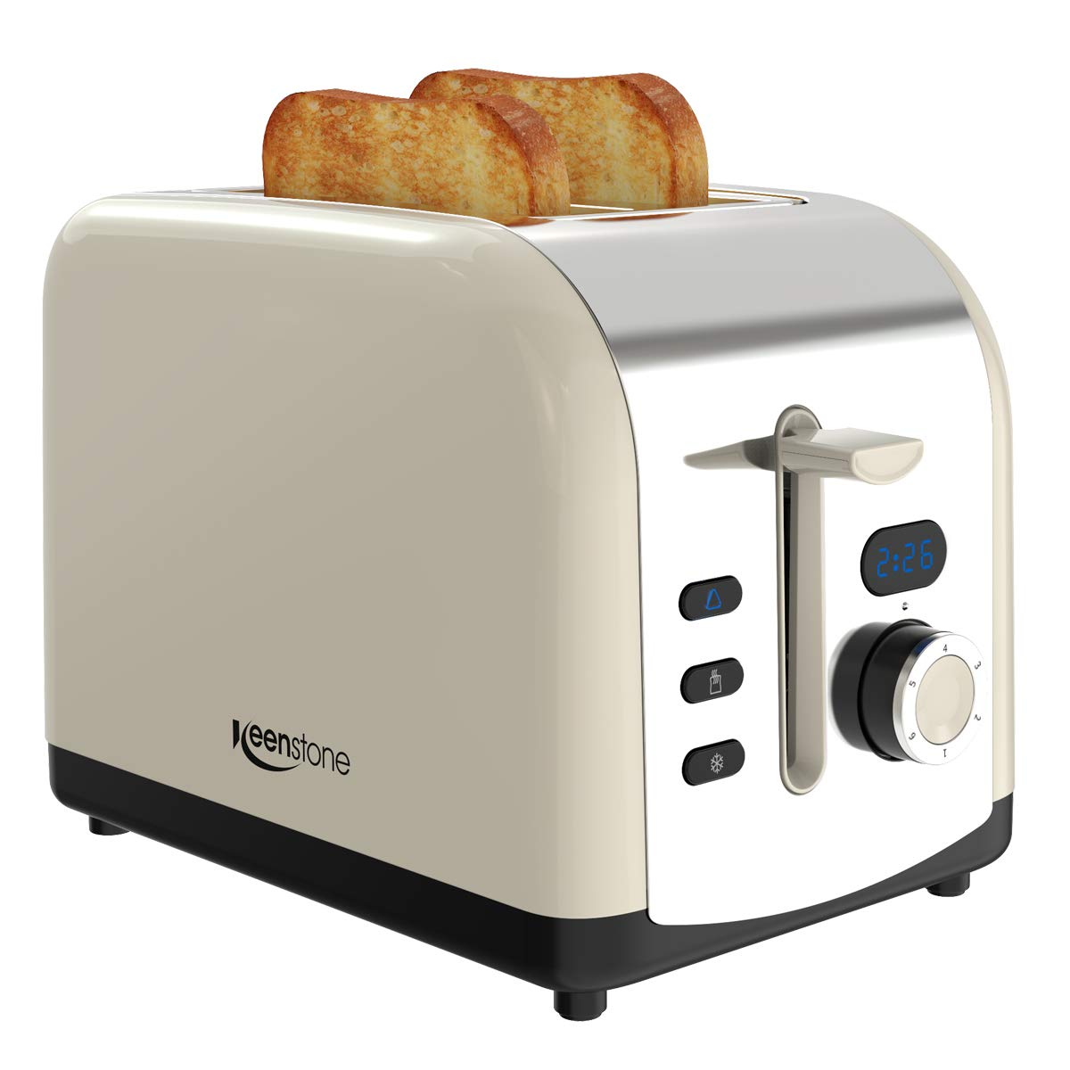Wonderful Retro LED Timer Display Stainless Steel Toasters