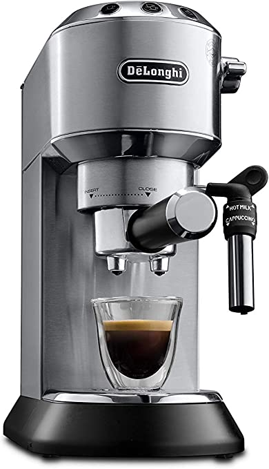 Delonghi EC685.M DEDICA 15-Bar Pump Espresso Machine Coffee Maker, Stainless Steel, 220 Volts (Not for USA - European Cord)