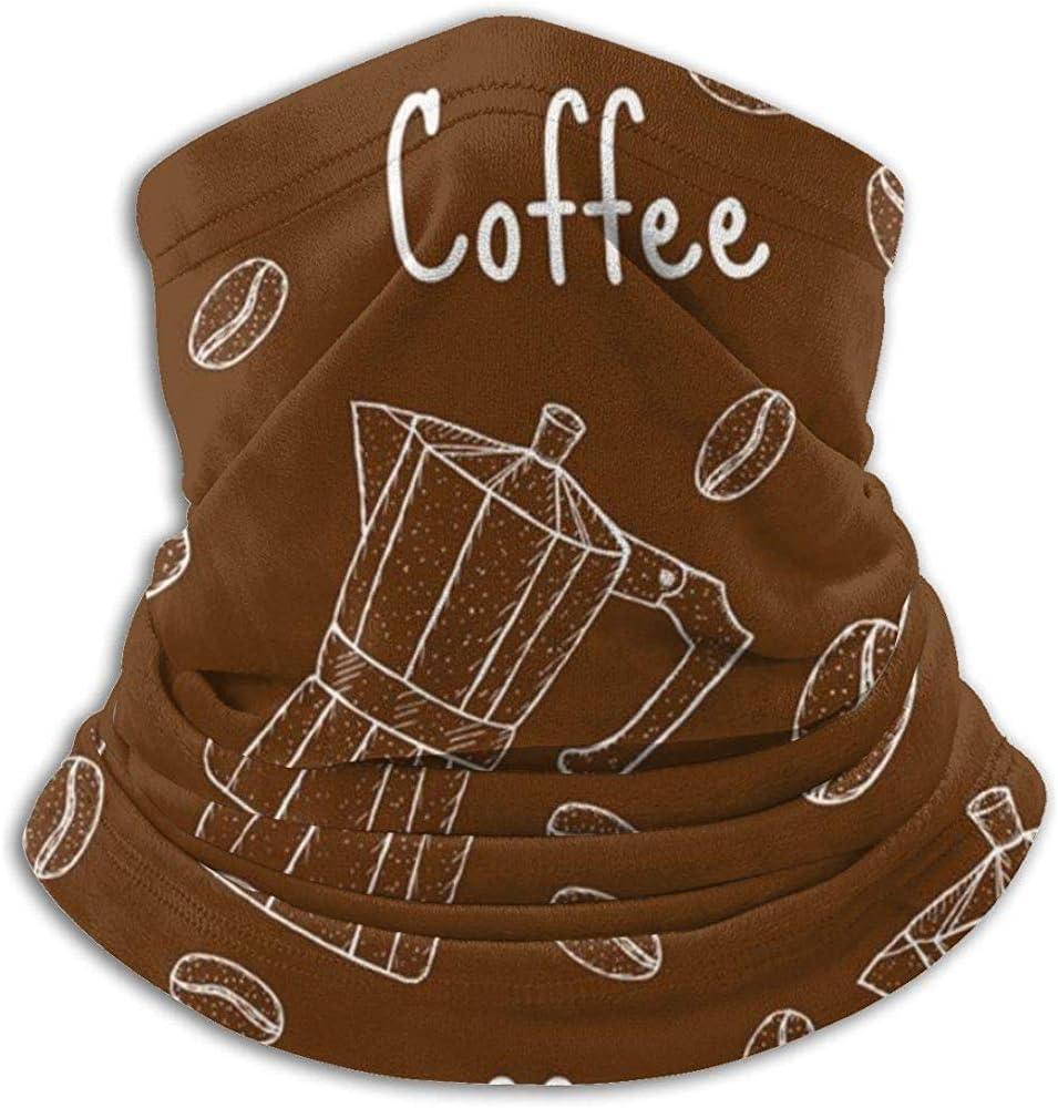 xinfub Patrón sin Costuras de café con cafetera Cafetera Diadema Mascarilla Bandana Pañuelo para la Cabeza Bufanda Cuello Calentador Sombreros Pasamontañas