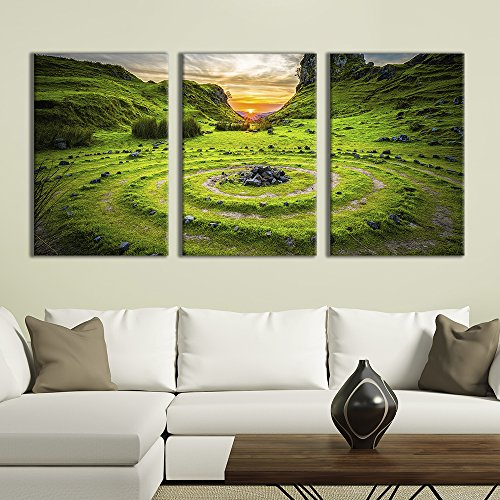 3 Panel Majestic Natural Landscape Triptych Series Sunset in the Valleys x 3 Panels