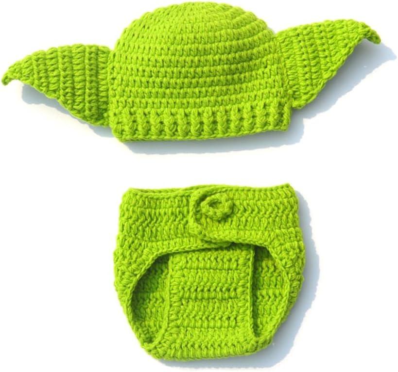 Disfraz de punto hecho a mano para bebé recién nacido