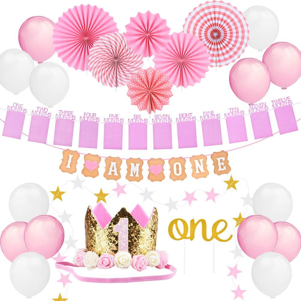 Baby Girl 1st Birthday P FIRST 1st BIRTHDAY Girl DECORATIONSPink Theme Kit Set