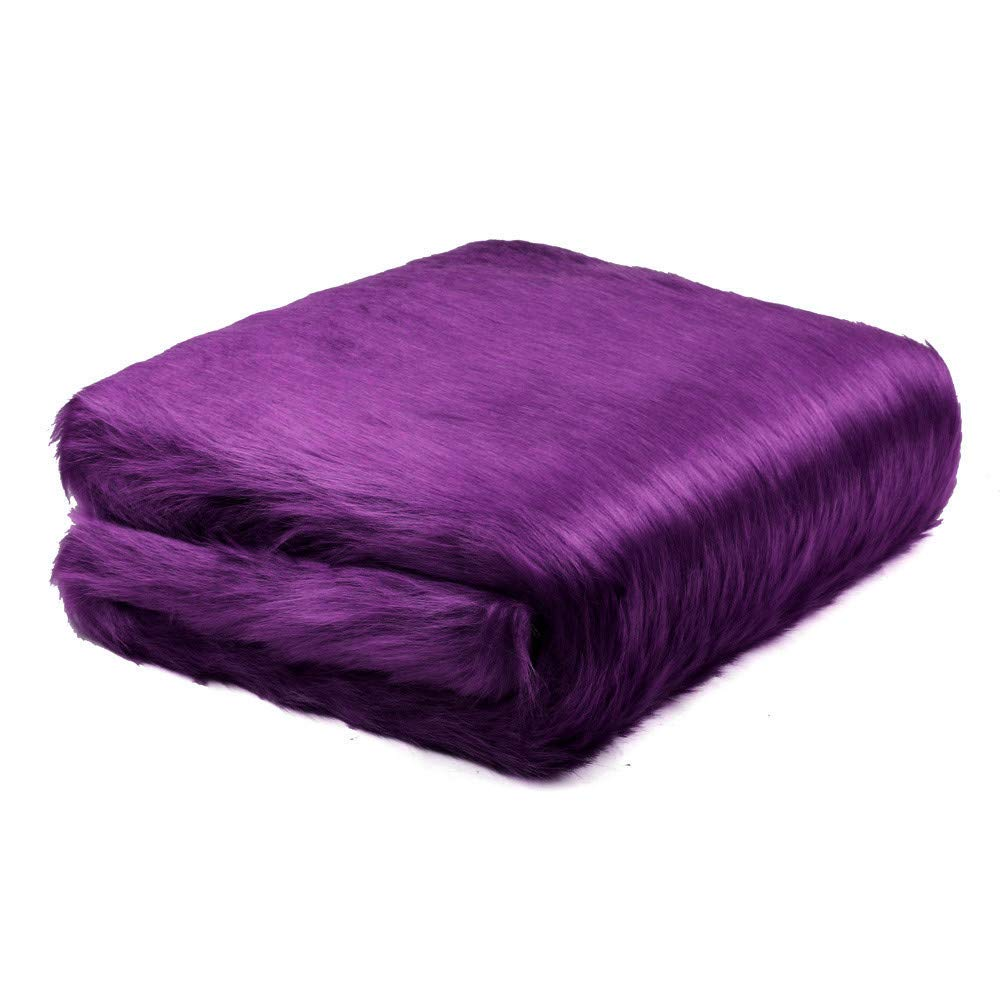 CocoMarket Home- Soft Sheepskin Rug Chair Cover Artificial Wool Warm Hairy Carpet Seat Pad New(Purple,One size)