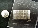Valcambi Suisse 10 by 1gram Pure 99.9% SILVER combibar