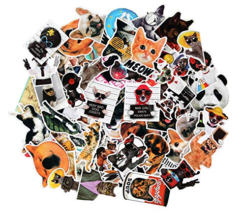 Sticker Decals - 77 Pcs Animals Vinyl Laptop Stickers Car Sticker for Snowboard Motorcycle Bicycle Phone Mac Computer DIY Car Window Bumper Luggage Decal Graffiti Patches (77 Pcs Animals)