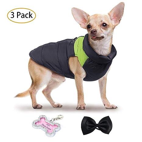 LA VIE Chaleco Chaqueta Acolchada Algodón Impermeable para Perro Abrigo Ropa para Invierno para Mascotas Cachorros