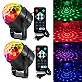 Disco Lights Sound Activated Party Lights with Remote,Dj Lighting, RBG Disco Ball, Stage lights Magic LED Strobe Lamp for Home Parties Birthday DJ Bar Karaoke Xmas Wedding (2 sets)