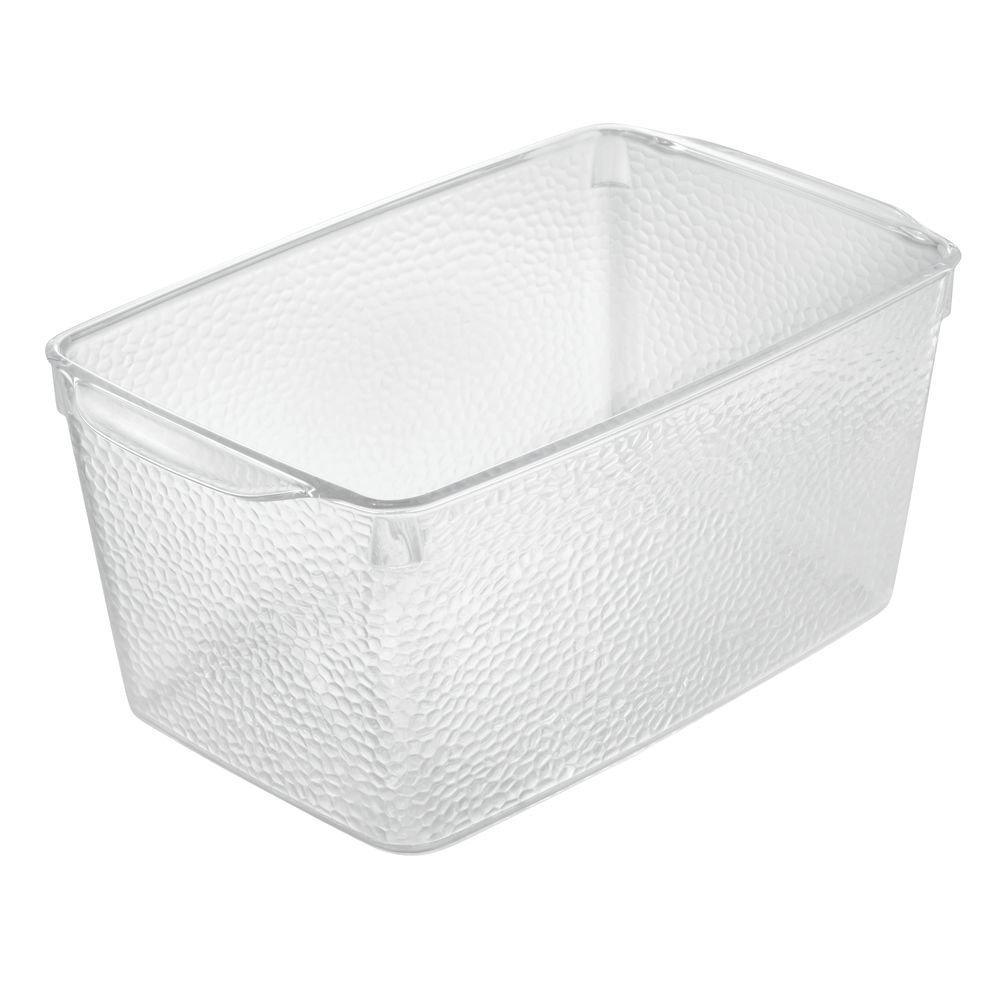 InterDesign Rain boîte à cosmétiques XL, boîte transparente déplaçable en plastique pour serviettes, etc, casier de rangement, transparent 09283EU